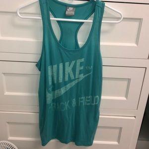 Turquoise Nike tank top
